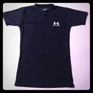 Boys Under Armour youth medium dark blue shirt